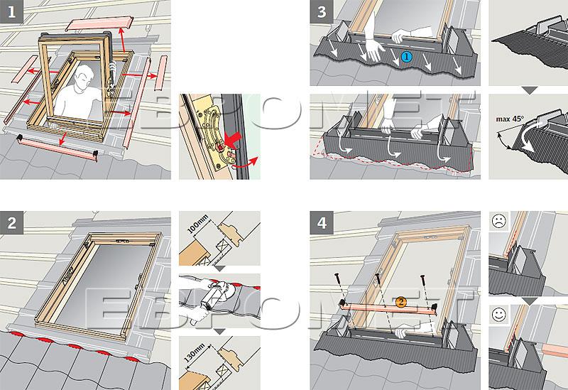 Инструкция по монтажу окна мансардного velux