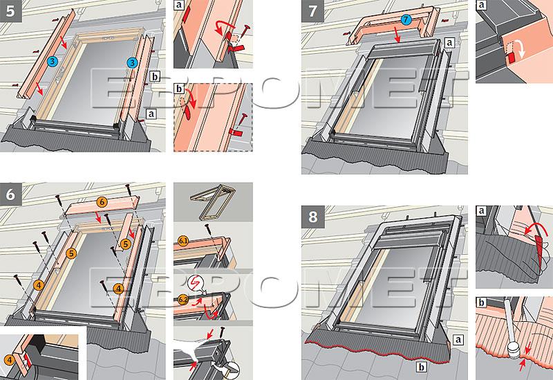 Инструкция по установке мансардного окна