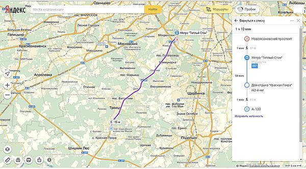 Схема проезда на автобусе в офис компании Евромет в ТСК «Молоток-3» - купить сайдинг, гибкую черепицу, водосток